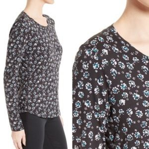 Rebecca Taylor Midnight Floral Jersey Top blouse